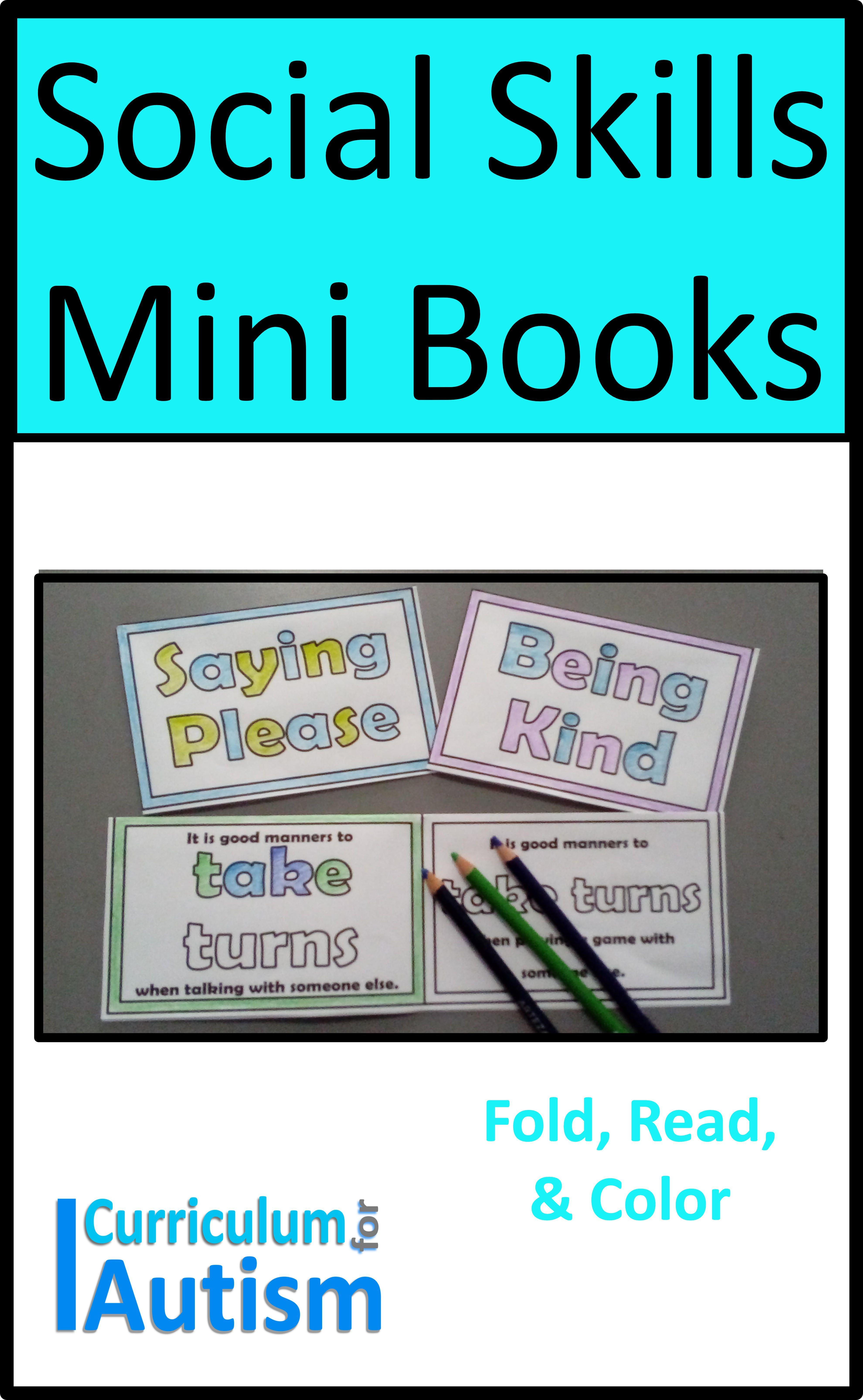 Social Skills Good Manners Mini Books