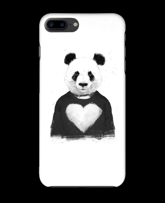 365c94674f8 Carcasa 3D Iphone 7+ lovely_panda Balàzs Solti -Tunetoo #animales #carcasa # personalizado
