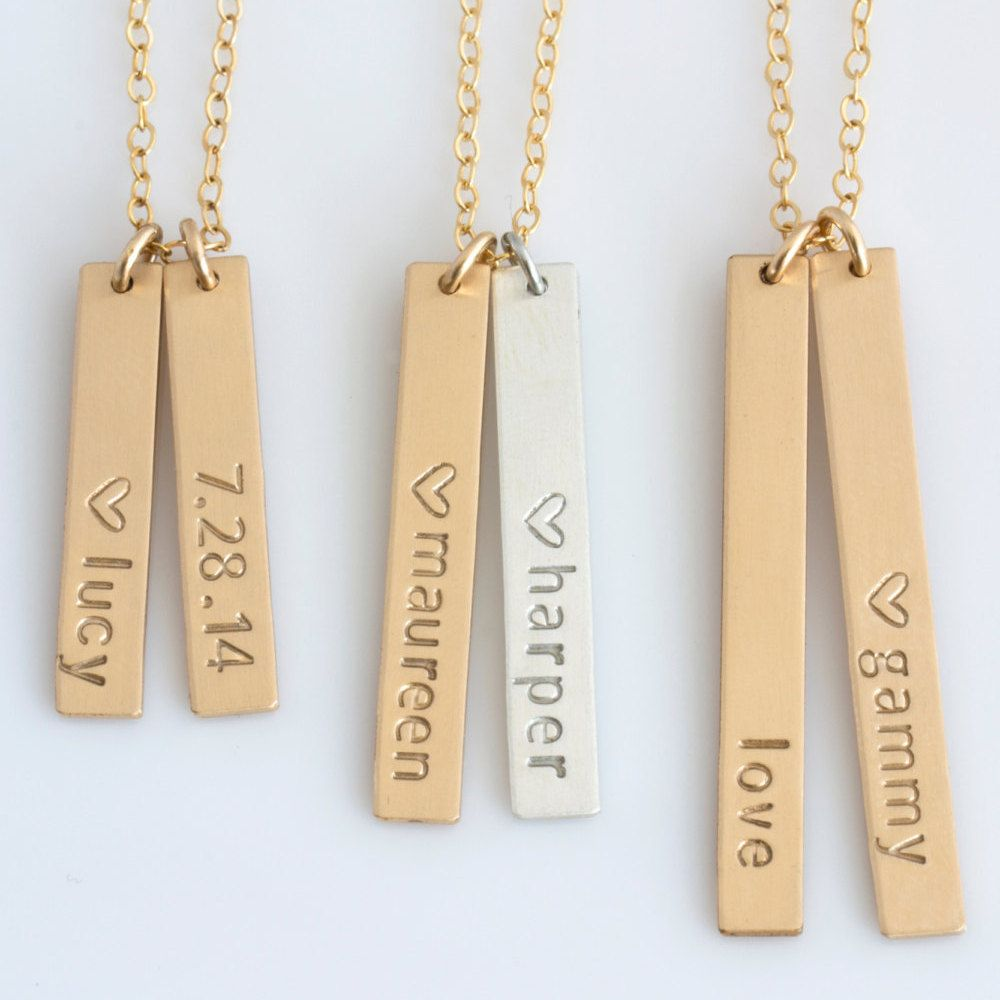 bar angel vertical personalised solid original by product lisa necklace necklaces pendant lisaangeljewellery rose gold