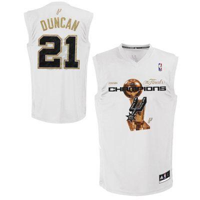 7519dc9f76d Tim Duncan San Antonio Spurs adidas 2014 NBA Finals Champions Jersey ...