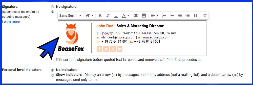 How To Add Email Signature In Gmail Email Signatures How To Be Outgoing Sales And Marketing