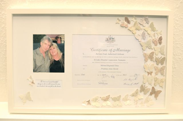 Wedding Certificate Frame And Paper Art