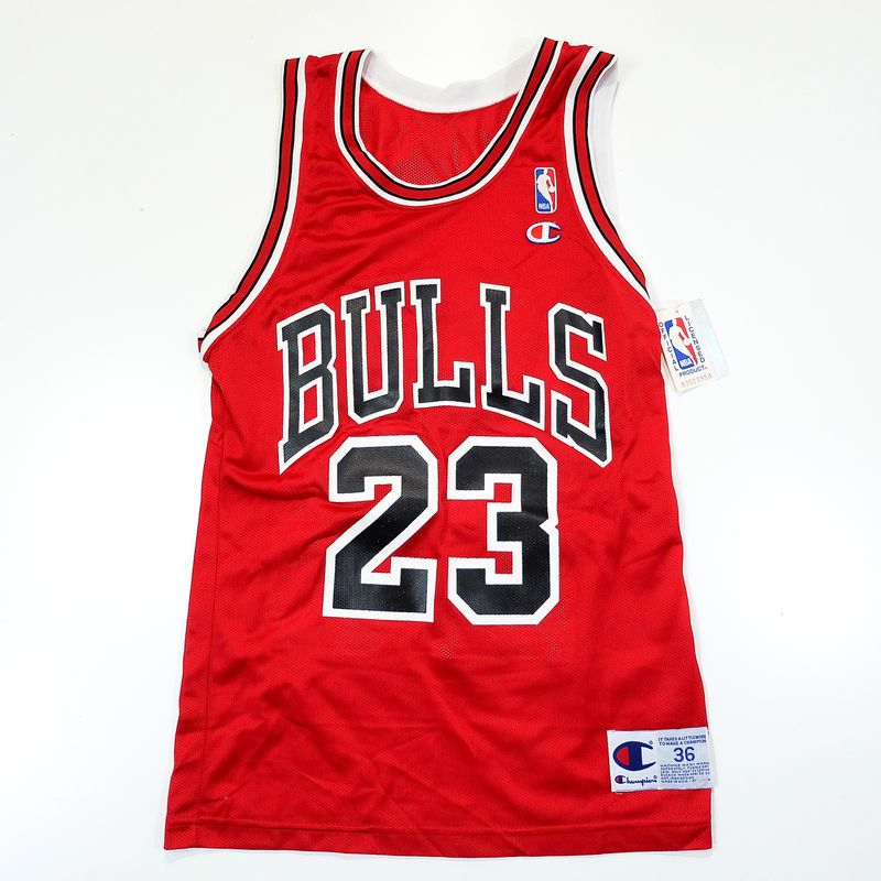 5fab6bcef0d VINTAGE NBA CHICAGO BULLS MICHAEL JORDAN 23 CHAMPION USA BASKETBALL JERSEY  UNIFORM SHIRT ( SIZE : 36 )