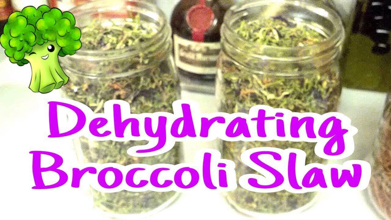 Dehydrating carrots broccoli slaw for food storage