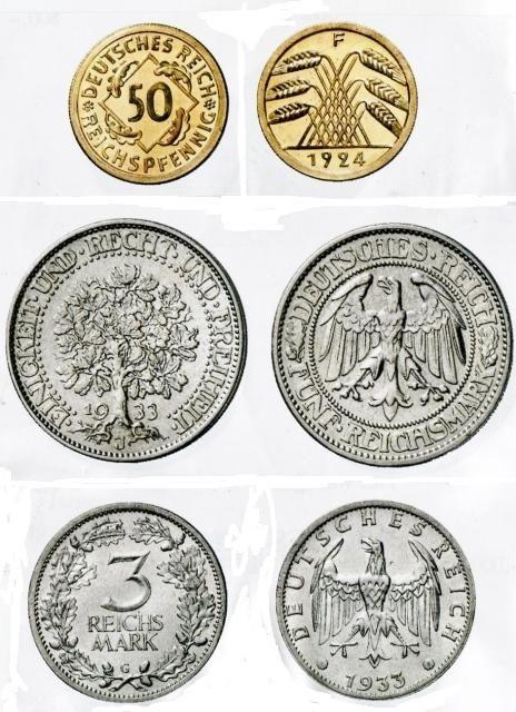 Seltene Reichsmünzen 1924 1933 Coins Numismatics Pinterest