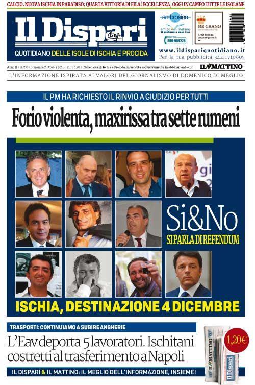 La copertina del 02 ottobre 2016 #ischia #ildispari