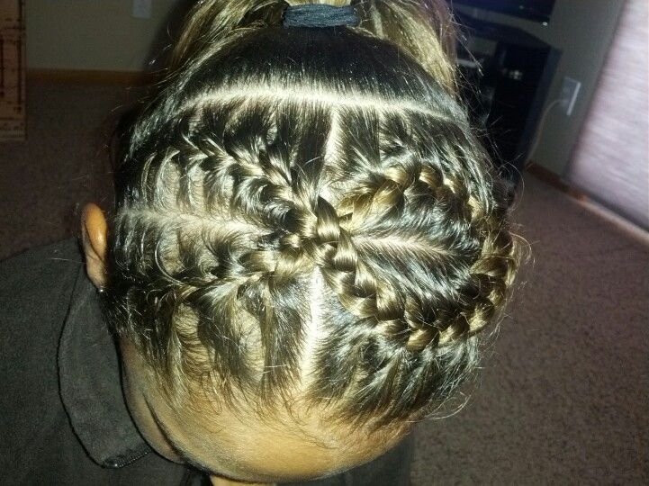 hairstyles for heart shaped face : Ribbon hair style for gymnastics meet! Hair Pinterest Gymnasts ...