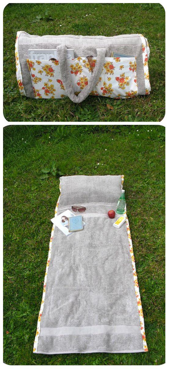 sac serviette de plage b b id es coudre couture. Black Bedroom Furniture Sets. Home Design Ideas