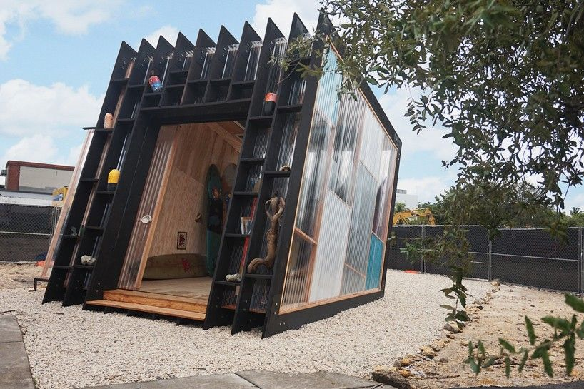 yves béhar's handcrafted pavilion in miami is a personal sanctuary of surf
