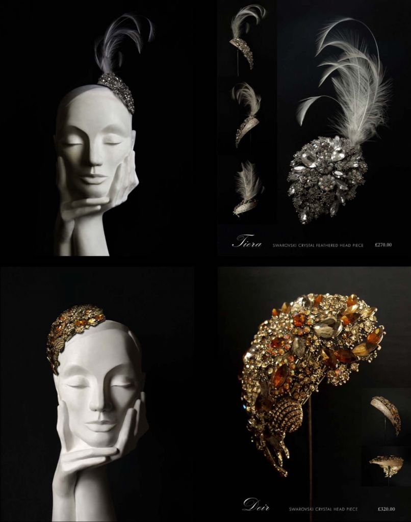 Gorgeous couture headpieces by the beautifully talented Nina Rai.