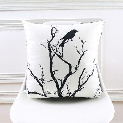 s Soft Velvet Pillow Cover Vintage Ikat Black Grey Home Decorative PillowCase 45x45cm/30x50cm