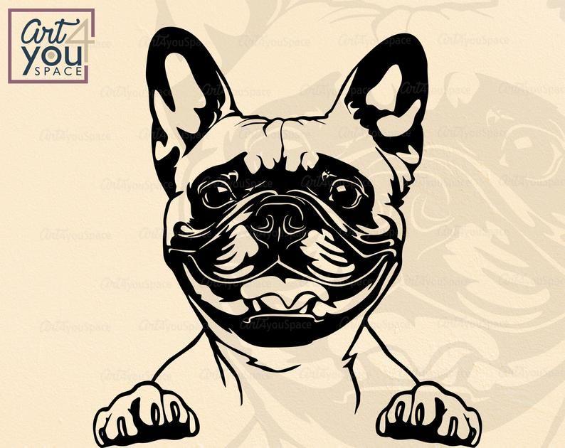 French Bulldog Svg Funny Frenchie With Leopard Bandana Etsy In 2021 Bulldog Wallpaper Frenchie Bulldog