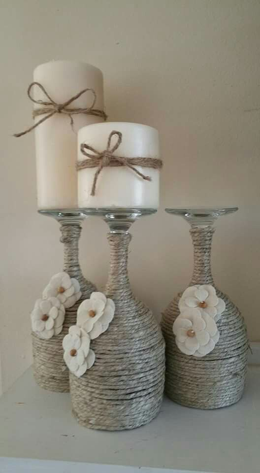 Photo of Christmas wine glass candle holder; DIY home decor ideas; Merry Christmas