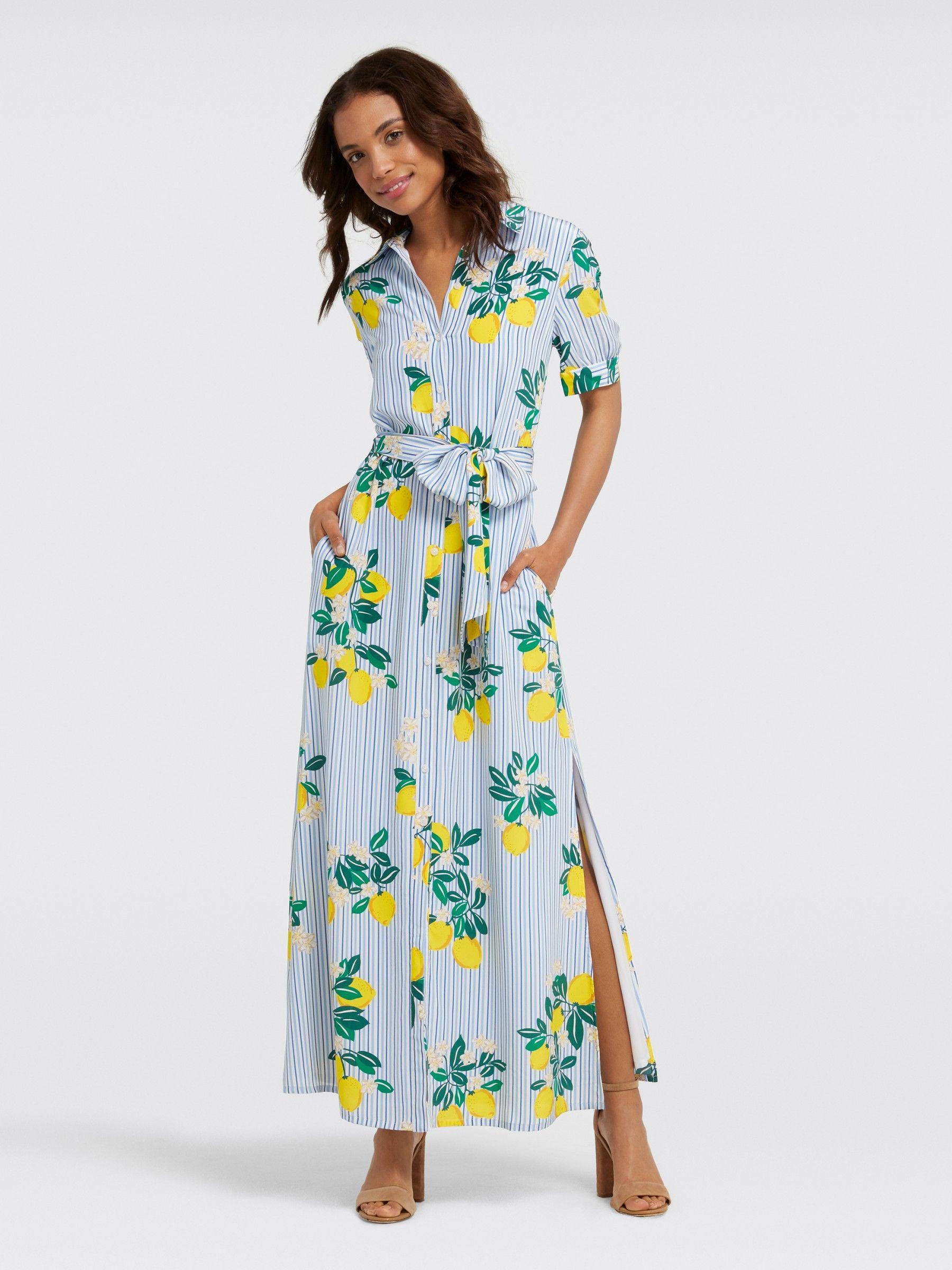 83f16d29c95 Collection Lemon Blossom Floral Maxi Dress - Clothing