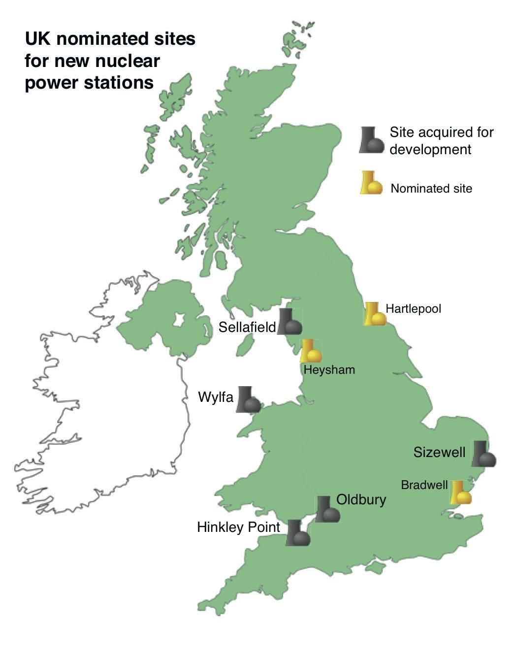 Map Of Uk Power Stations.Uk New Build Plans For Nuclear Power Plants Nuclear Power Plant