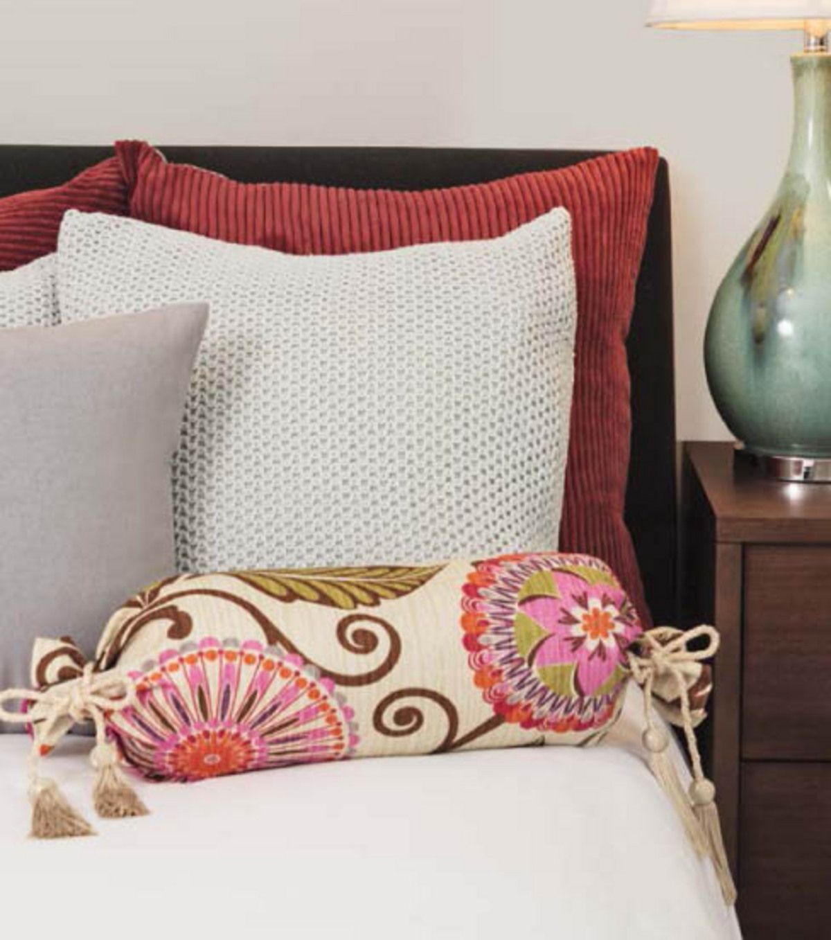 Tassels and a bold print ud a fun refresh to your home decor free