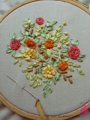 Pin By Just Crafty On Needle Crafts Pinterest Silk Ribbon