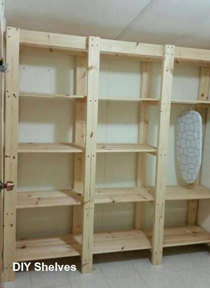 Diy Shelves Storage Ideas In 2020 Wooden Storage Shelves Diy Shelves Bedroom Closet Shelves