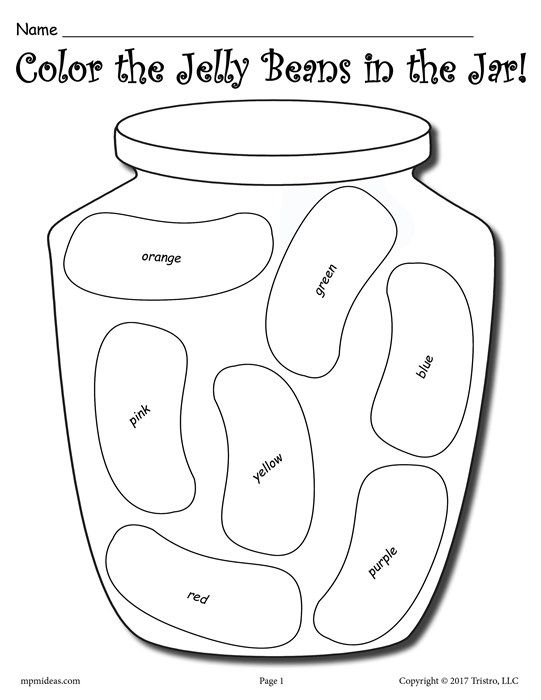 Color The Jelly Beans Free Color And Tally Printable Worksheets
