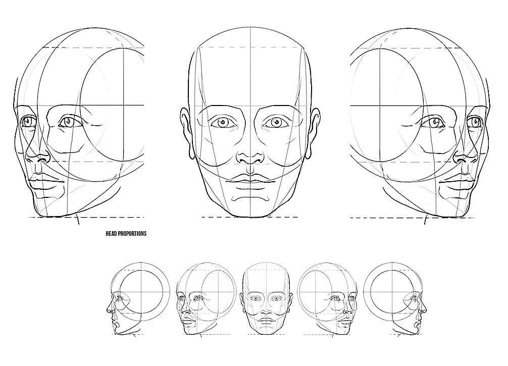 этот картинки как нарисовать голову человека поэтапно названия
