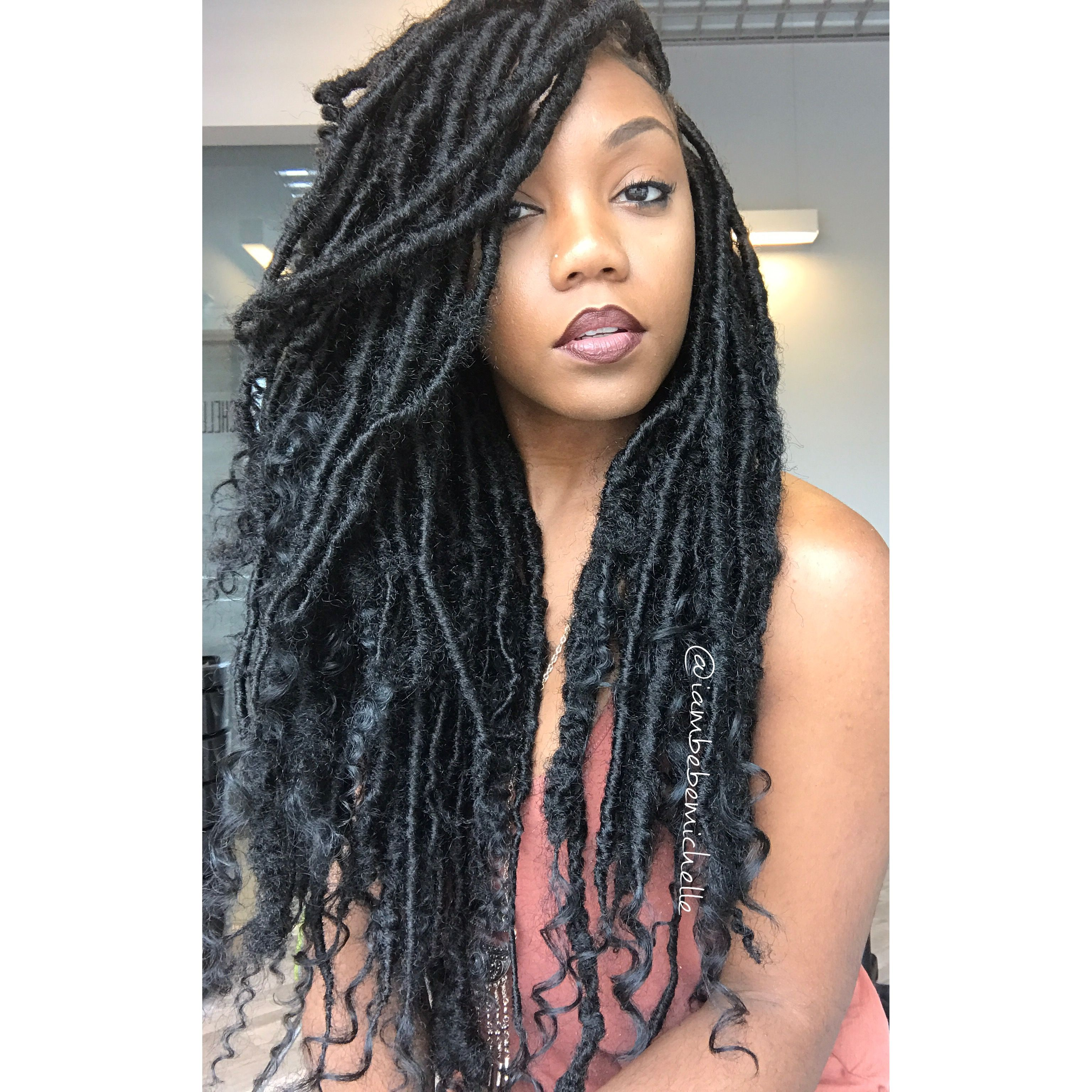 Pin By African American Hairstyles On Bomb Protective Styles Hair Styles Faux Locs Hairstyles Curly Hair Styles