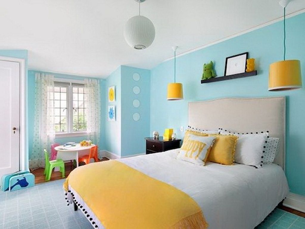 Ideas To Paint Room Two Colors Home Decor Interior And Exterior Colorful Kids Room Room Colors Tween Girl Bedroom