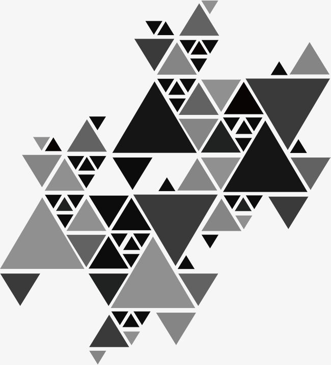 Gray Triangle Puzzle Triangle Art Geometric Wall Stencil Geometric Art