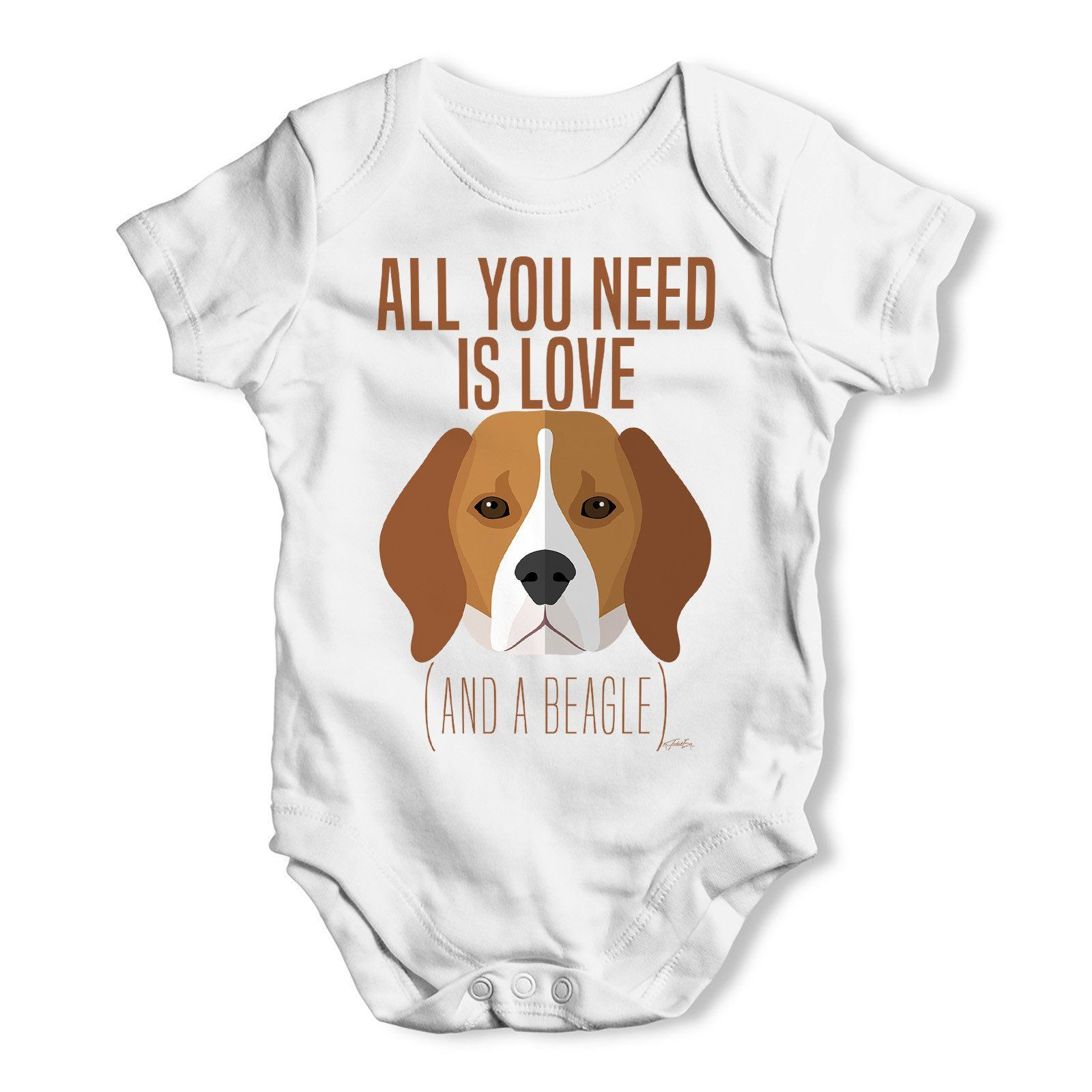 All You Need Is A Beagle Baby Grow Bodysuit Baby Grows Funny
