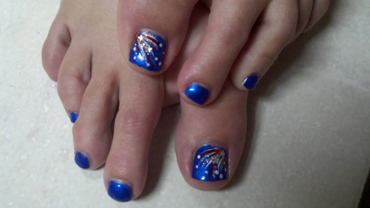 For the 4th of July | Style | Pinterest | Toe nail designs, Toe nail ...