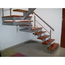 resultado de imagen para escaleras modernas de madera y metal