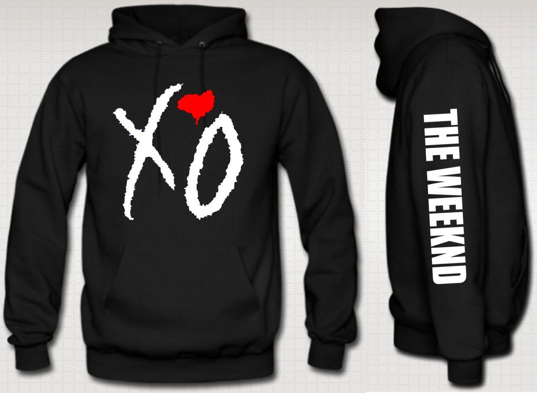 xo the weeknd hoodie red heart ovoxo the weeknd xo by