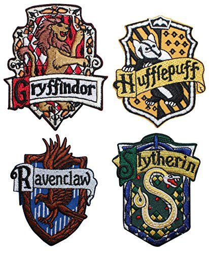 Set Of 4 Hogwarts House Crests Robe Emblems Harry Potter Iron On Applique Patch Cool Patche Hogwarts Houses Hogwarts Houses Crests Harry Potter Hogwarts Houses