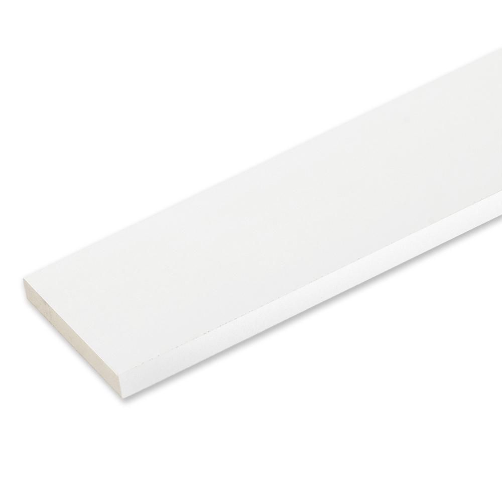 3 4 In X 5 1 2 In X 16 Ft White Reversible Pvc Pvc Trim Pvc Vinyl Board