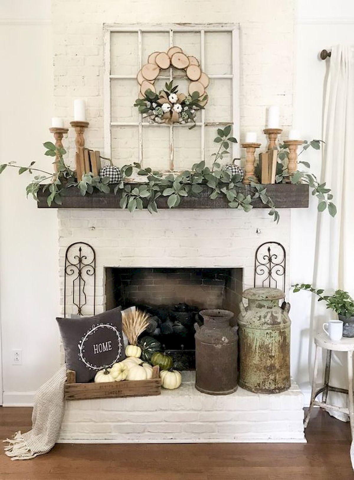 Gorgeous 6 Beautiful Spring Mantel Decorating Ideas https