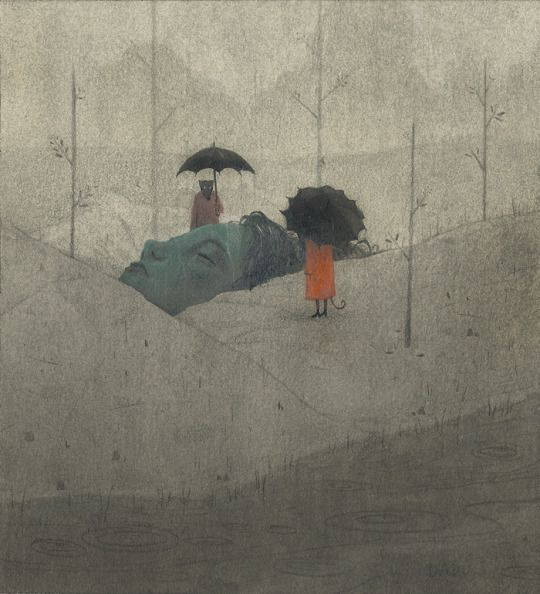 Dadu Shin (American, b. MA, USA) - This Piece Is Based On The Idiom Feeling Under The Weather