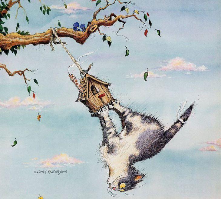 Размеры открытки, забавные и веселые рисунки польских художников