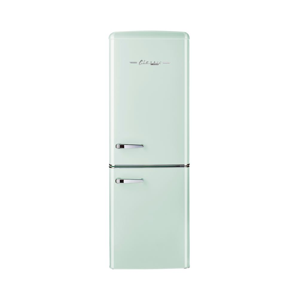 Unique Retro 21 6 In 7 Cu Ft Bottom Freezer Refrigerator In Summer Mint Green Energy Star Ugp In 2020 Bottom Freezer Refrigerator Bottom Freezer Retro Refrigerator