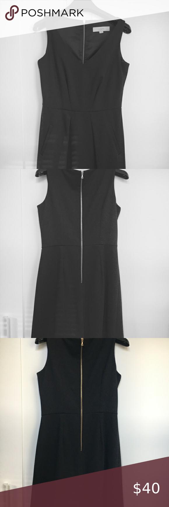 Ann Taylor Loft Black Dress With Pockets In 2020 Black Dress With Pockets Black Dress Dresses [ 1740 x 580 Pixel ]