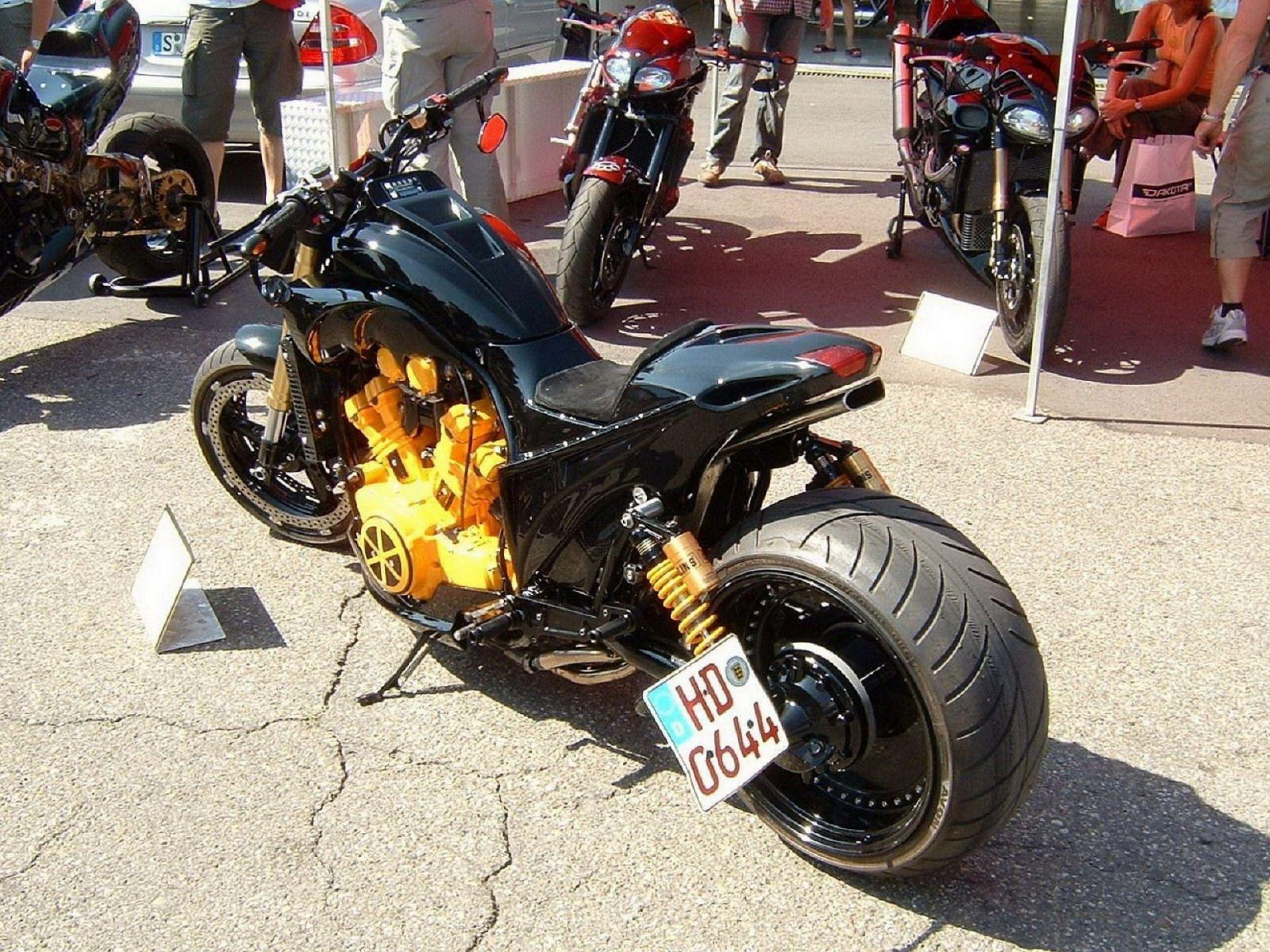 Street Fighter Motorbikes Yamaha Vmax Hockenheimring Nitrolympics