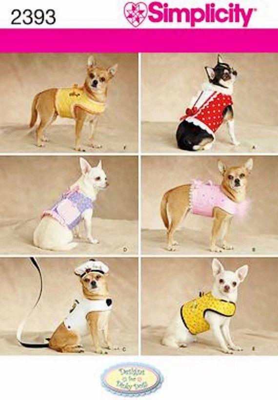 Dinky Dog Harness Vest Pattern Sz Xxs To Med Simplicity By Blue510