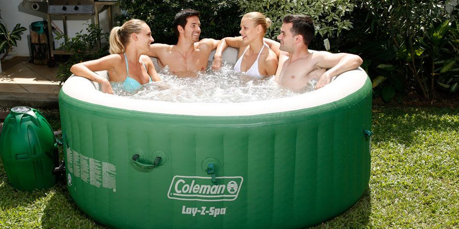 Coleman Lay-Z Spa Inflatable Hot Tub with Six Filter Cartridges ...