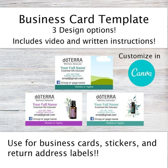 DoTERRA Business Card Template - Business Card Stickers