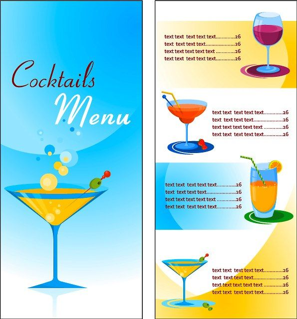 cocktail menu template word free - Eczasolinf