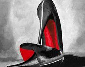 b8593967f8bb CHRISTIAN LOUBOUTIN Black Designer Shoes Art Print 7 x 5