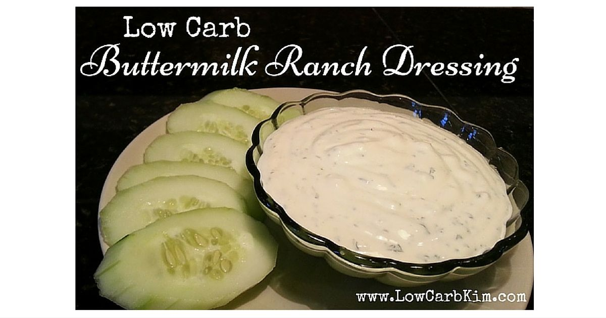 Buttermilk ranch dressing low carb first measure out