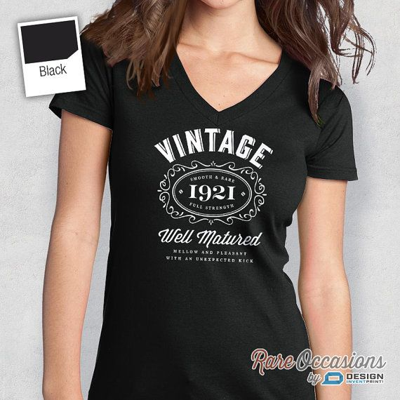 95th Birthday Womens V Neck Idea Present Or Gift 1921 For The Lucky 95 Year Old