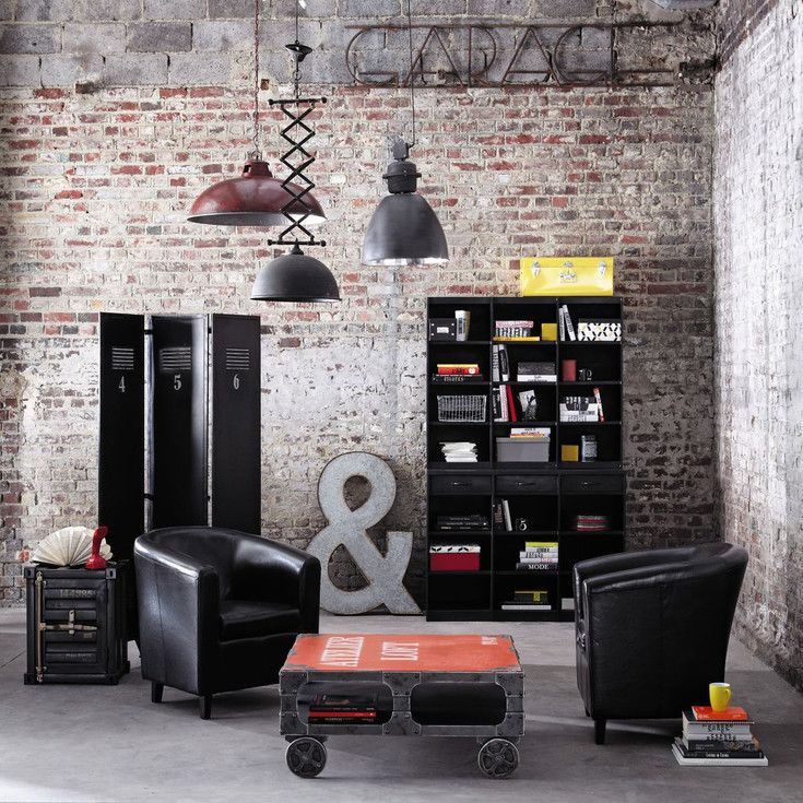 free meubles et dcoration de style industriel loft u factory maisons du monde with stickers. Black Bedroom Furniture Sets. Home Design Ideas