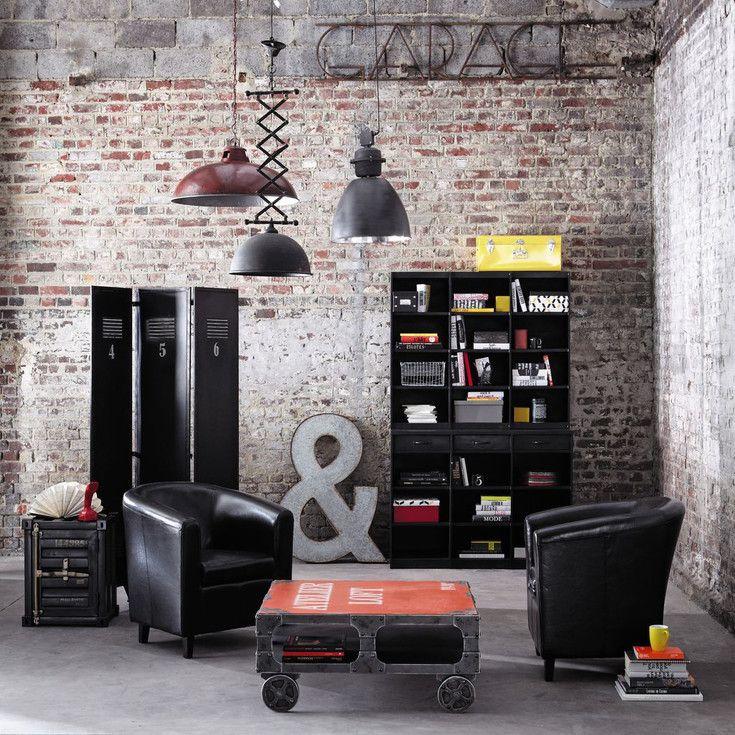 meubles et d coration de style industriel loft factory maisons du monde pinterest. Black Bedroom Furniture Sets. Home Design Ideas