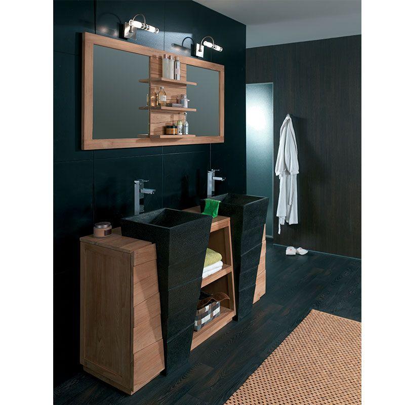 meuble salle de bain bois cocktail scandinave