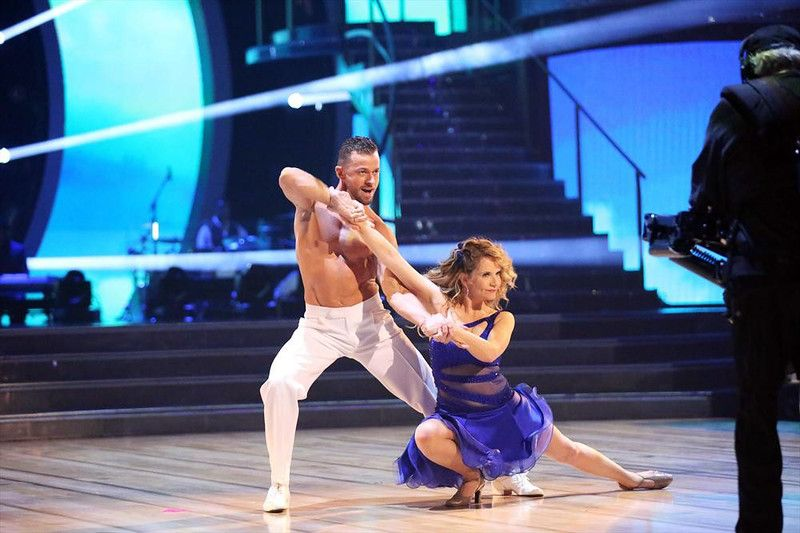 """Wk6 Lea & Artem danced Salsa to """"Sexy People"""" by Arianna featuring Pitbull Scored: 8+8+8+8=32"""